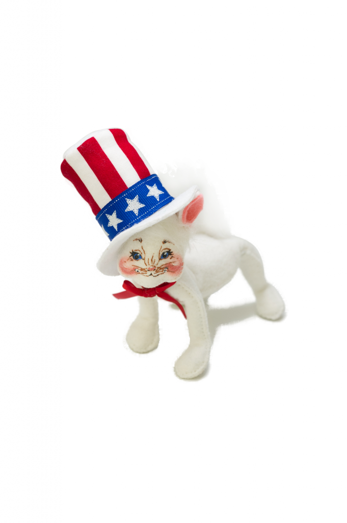 """4"""" Uncle Sam Kitty"""