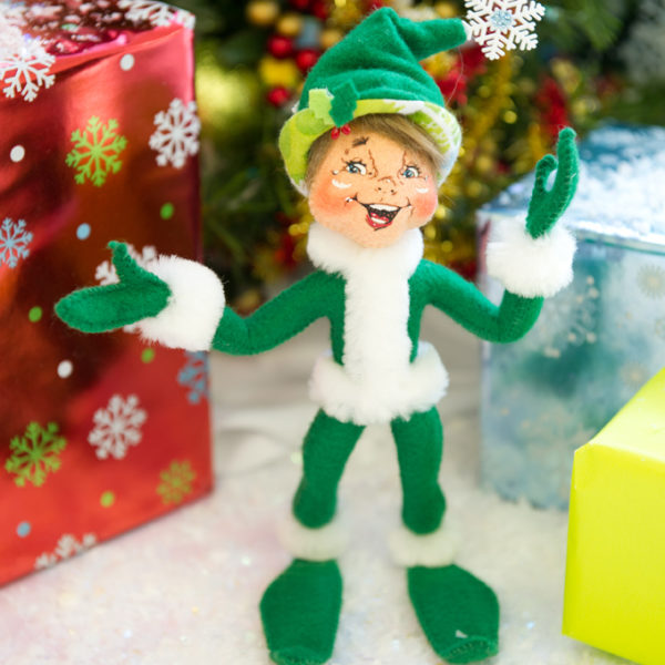 9-inch Green Snowflake Elf