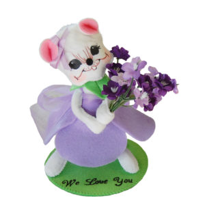 6in Lilac Mouse with base