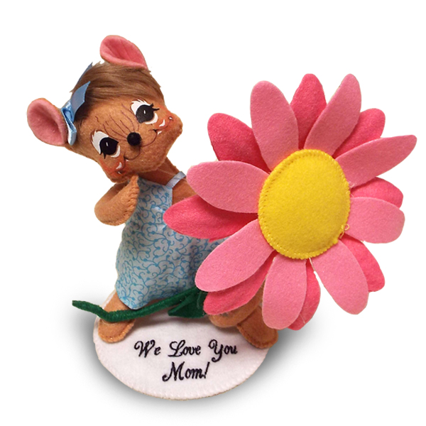 6 inch blue skies daisy mouse with base
