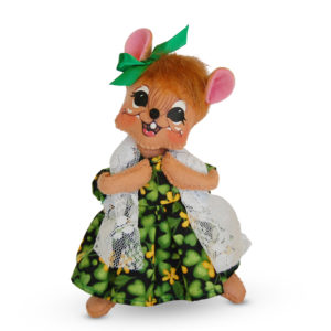 6-inch St Patricks Girl Mouse