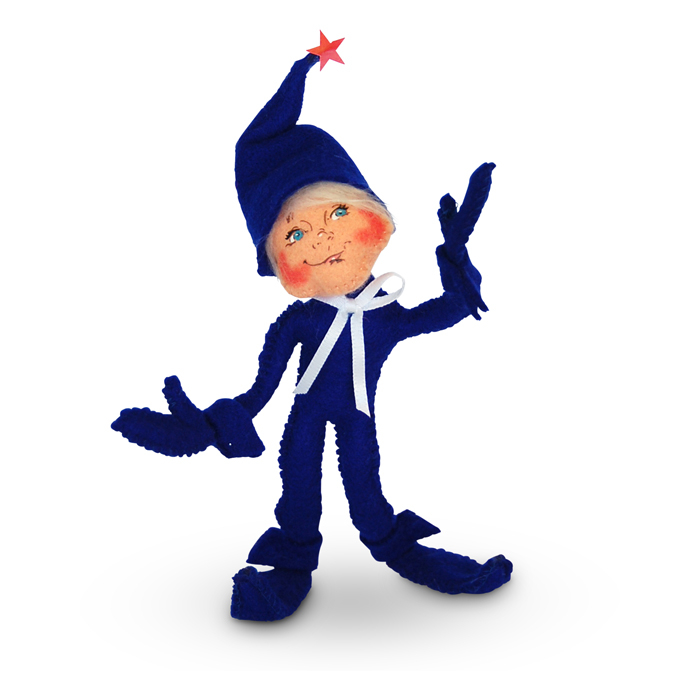 5-inch Patriotic Elf- Blue