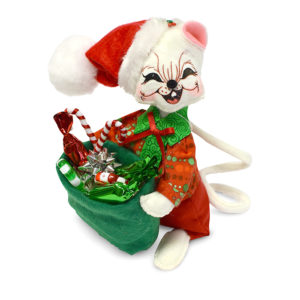 600417 6in Festive Candy Boy Mouse