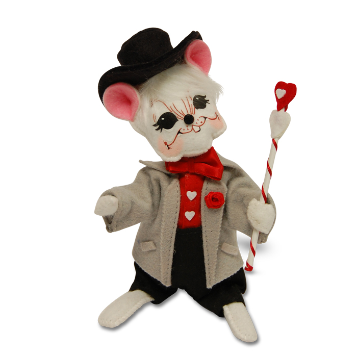 6 inch happy hearts boy mouse