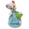 6 inch blue skies girl mouse with base