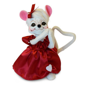 101018 6in Valentine Girl Mouse