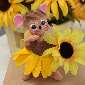 6 inch sunny sunflower mouse