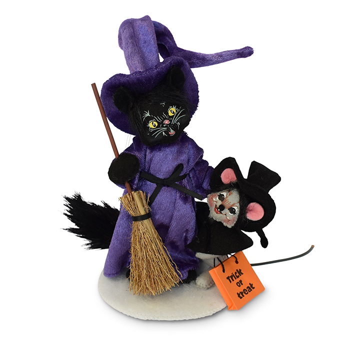 6 inch witch cat and mouse
