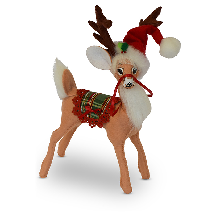 8 inch plaid tidings reindeer