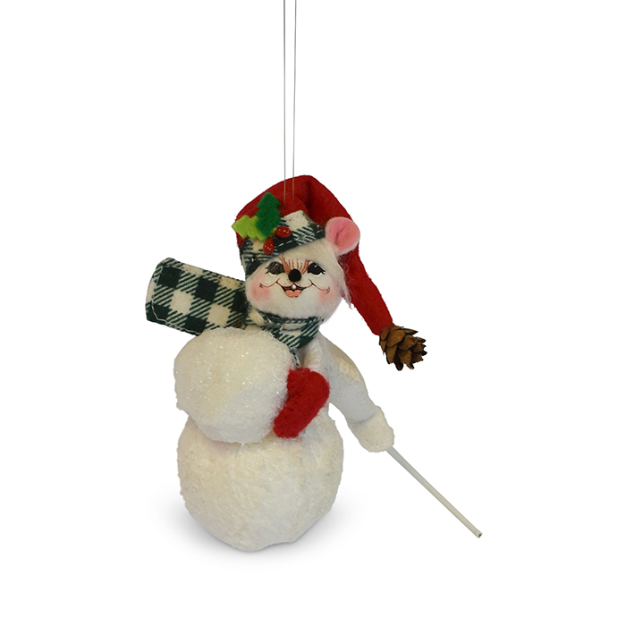 3 inch northwoods snowball mouse ornament