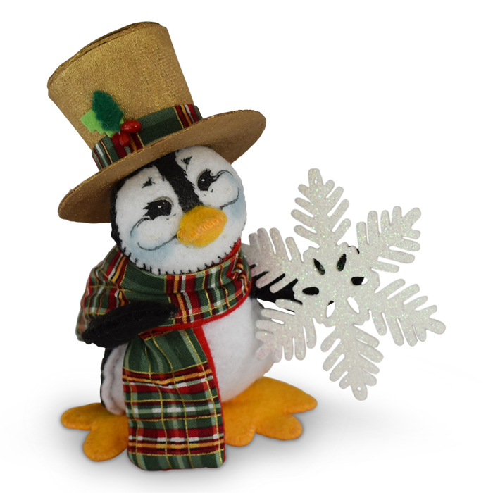 4 inch plaid tidings penguin