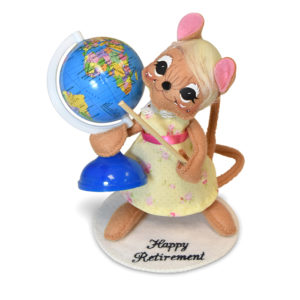 6 inch personalized teacher girl mouse