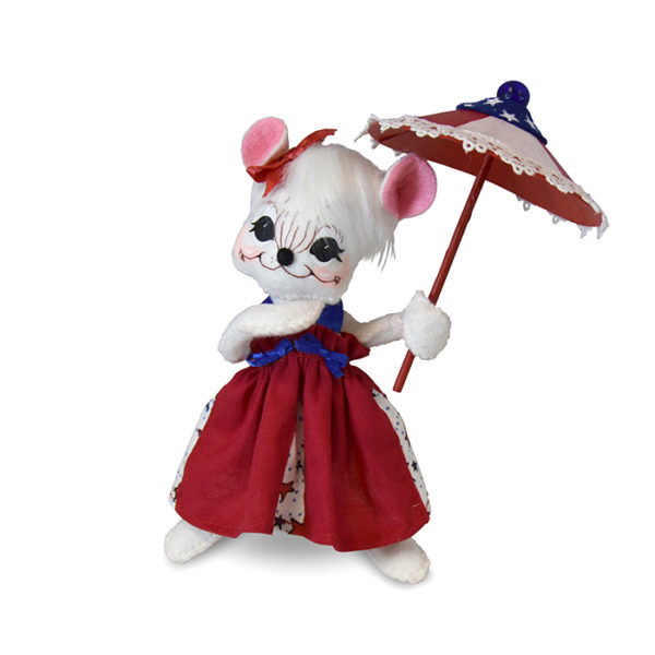260319 6in 4th of July Girl Mouse