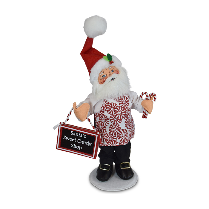 9 inch peppermint chef santa