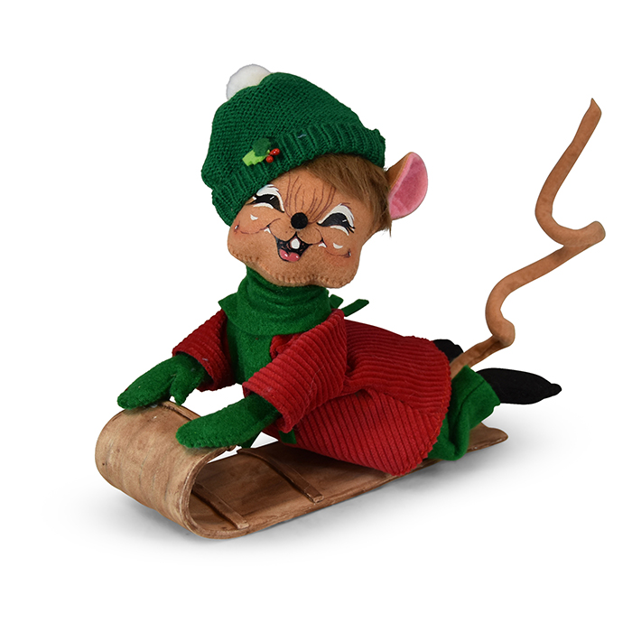 8in Snow Fun Toboggan Mouse