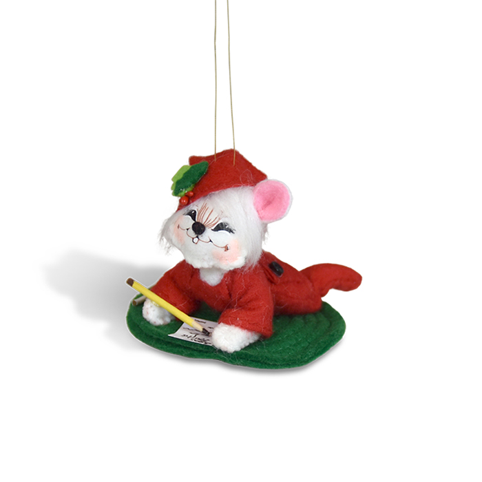 3 inch letter to santa mouse ornament