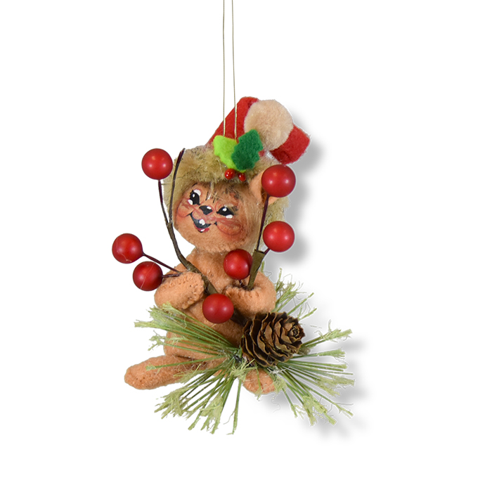 3 inch Rustic Pine Chipmunk ornament