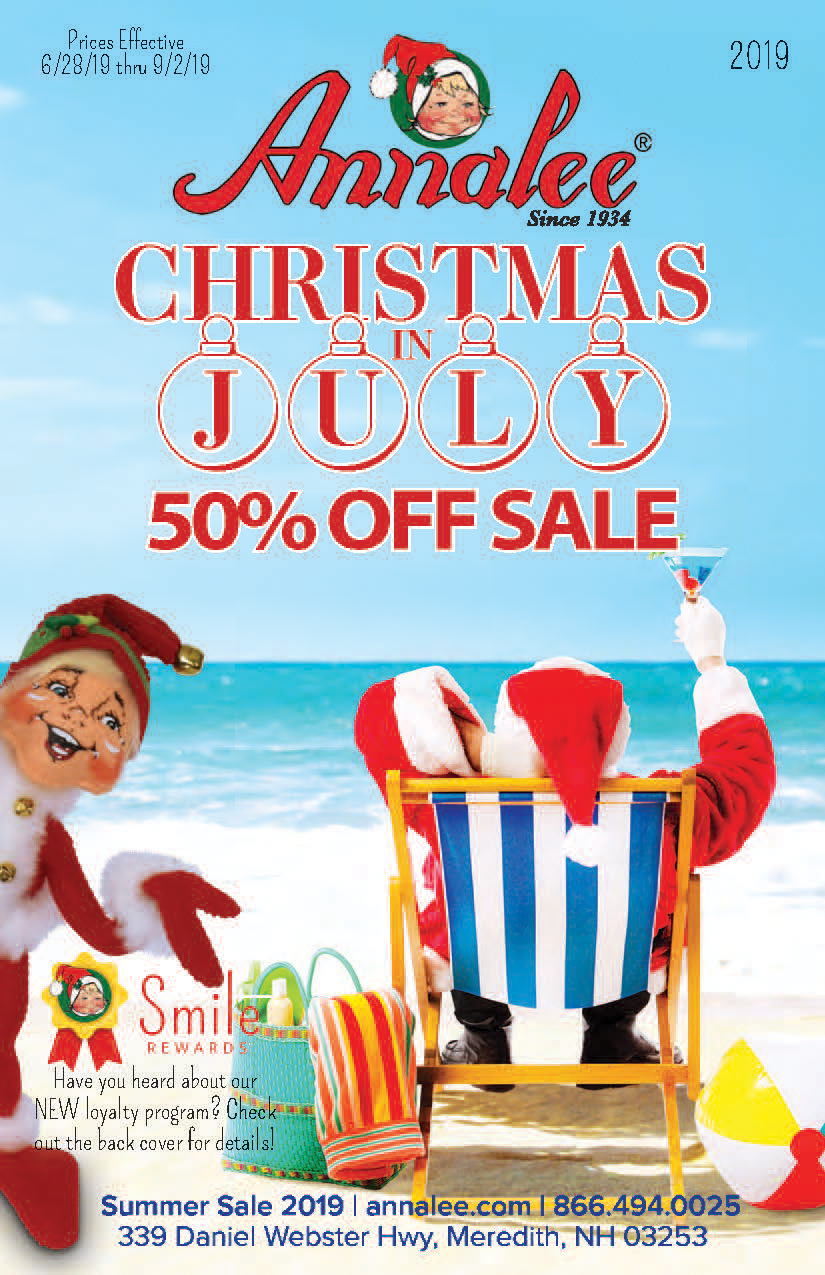 2019 annalee christmas in july sale catalog
