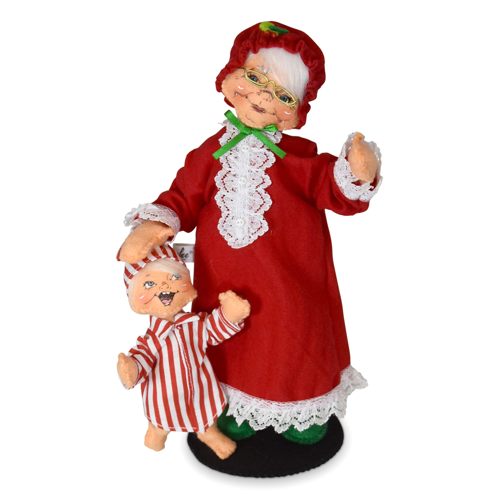 9 inch Tuckered Mrs Saint Nick and Child