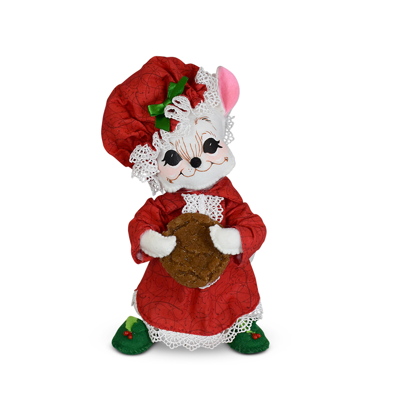 612120 8in Christmas Whimsy Nightshirt Mouse