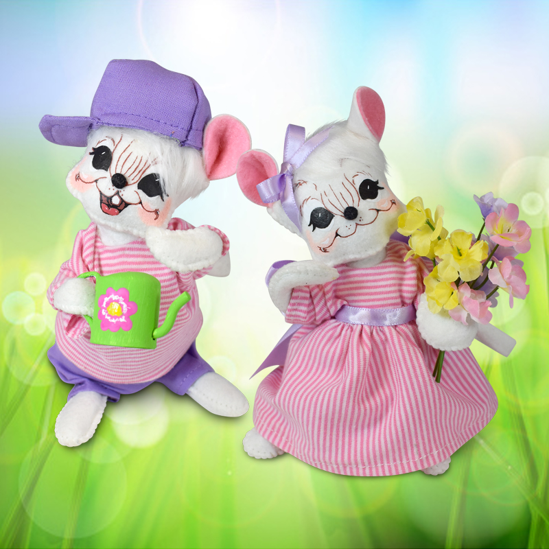 Perfect Pairs-2019 6in Spring Mouse Couple