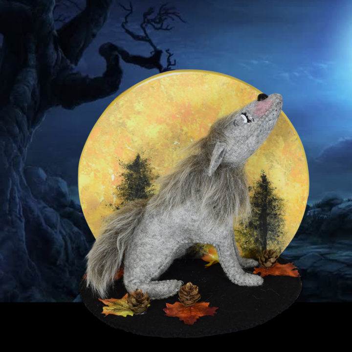 860720 6in Harvest Moon Wolf