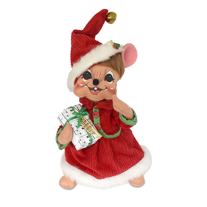 611518 8in Jingle Bell Girl Mouse