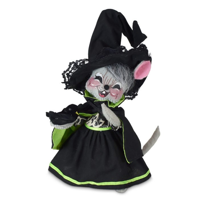 310921 6in Ghostly Witch Mouse