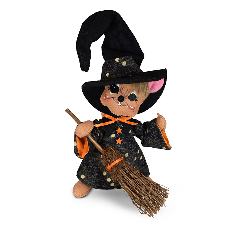 311021 6in Halloween Witch Mouse