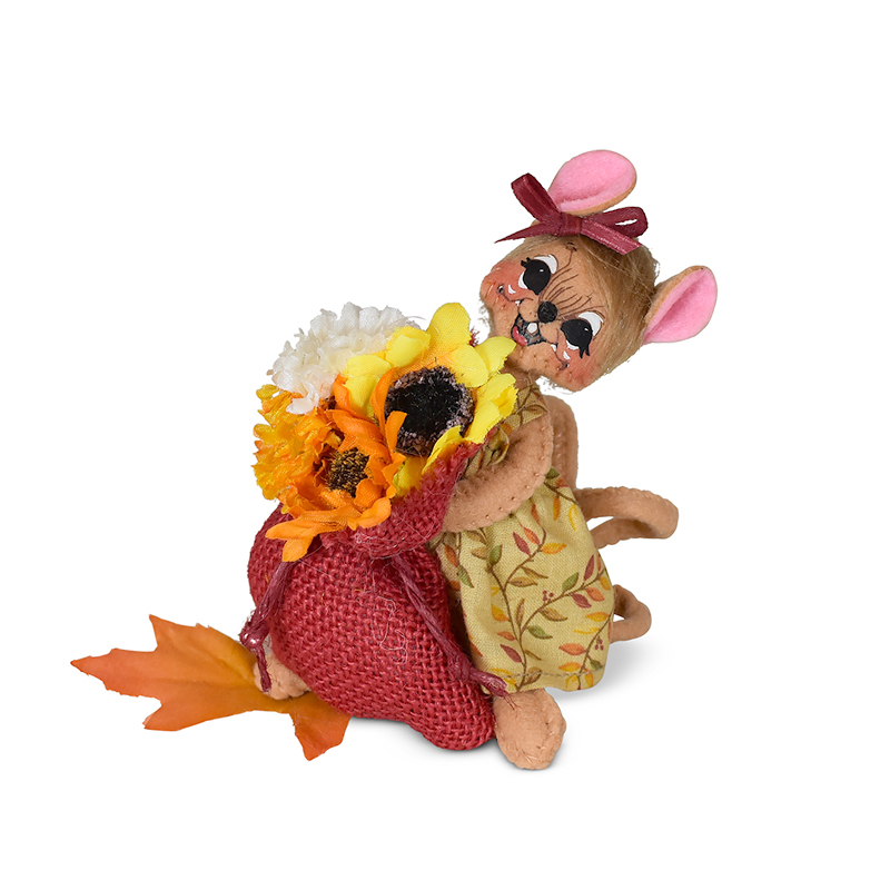 360821 5in Autumn Flowers Mouse
