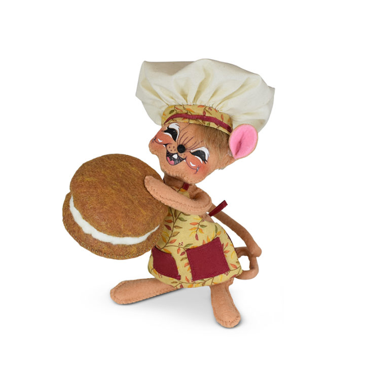 360921 6in Pumpkin Whoopie Pie Chef Mouse