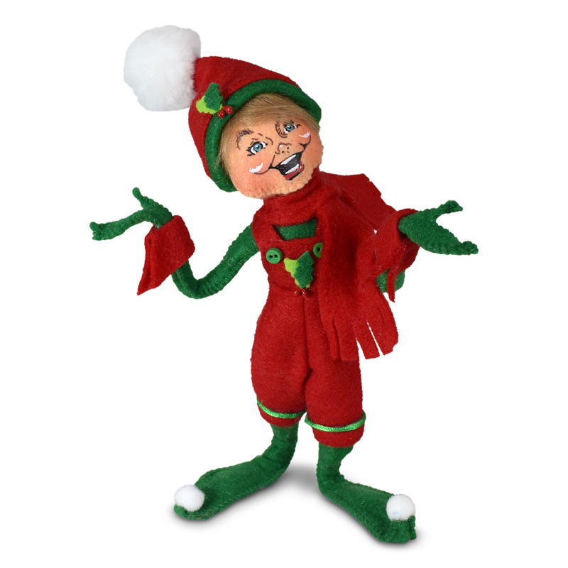 510421 9in Holiday Cheer Boy Elf