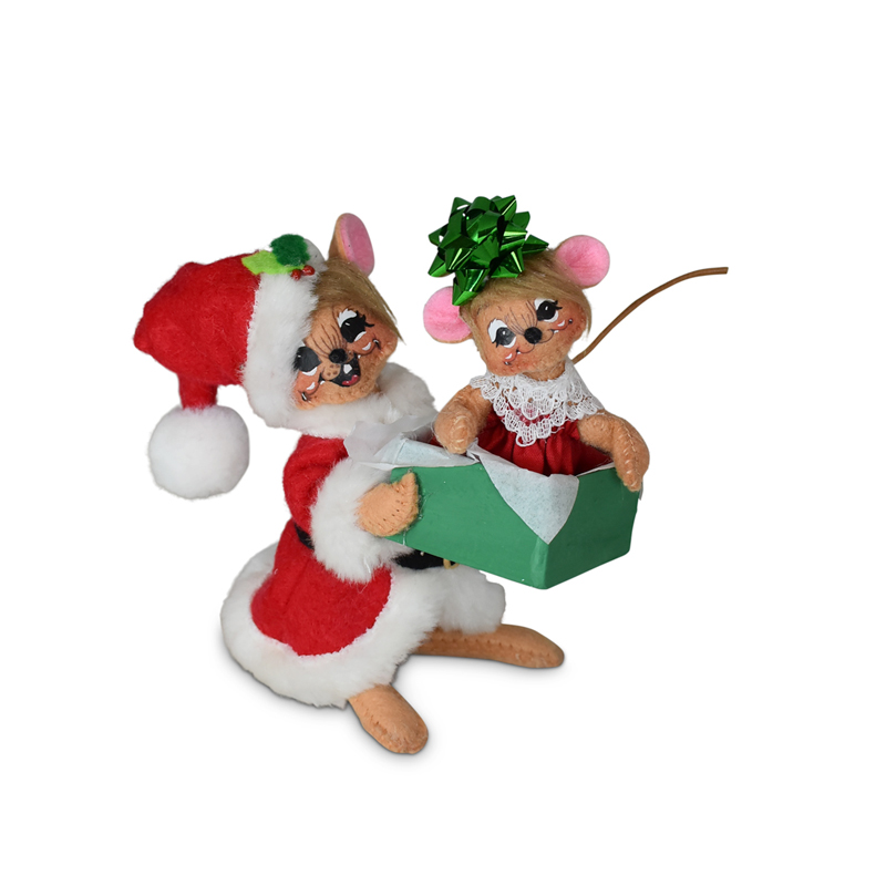 610221 5in Holiday Cheer Gift Mice