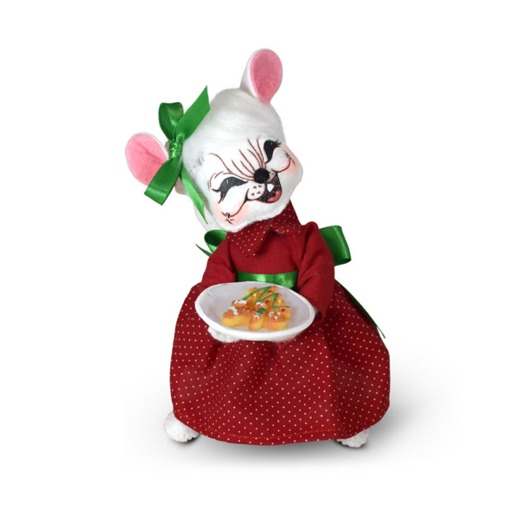 610421 6in Holiday Cheer Cookie Mouse