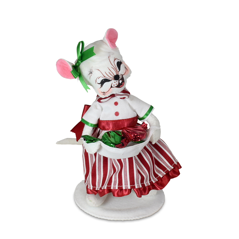 611621 6in Christmas Candy Girl Mouse