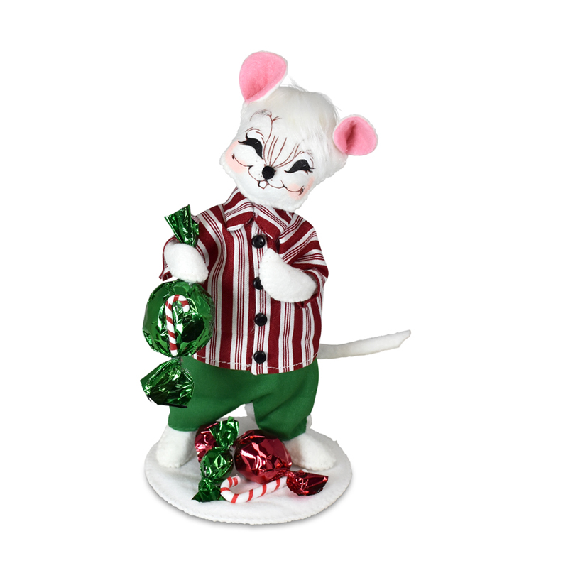 611721 6in Christmas Candy Boy Mouse