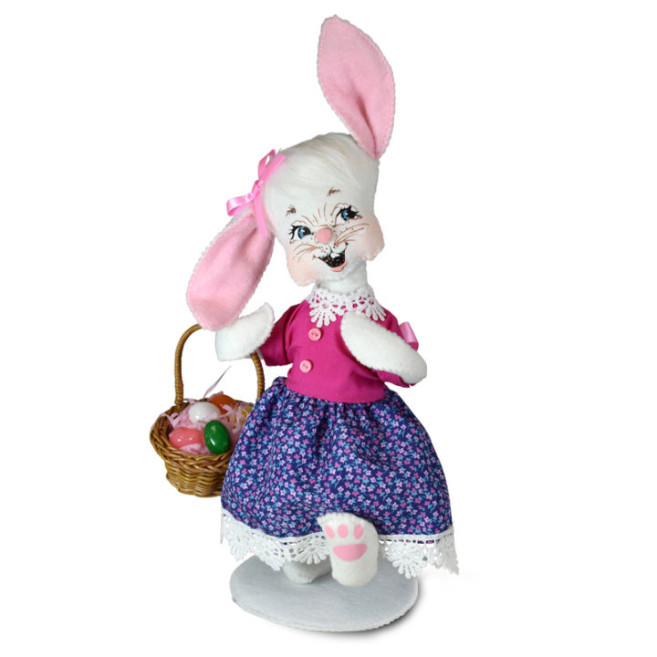 211722 8in Girl Bunny with Basket1