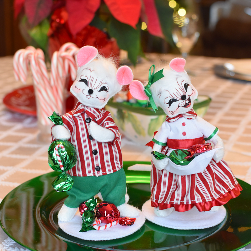 Christmas Candy Mice - Holiday Kitchen Decor